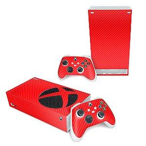 Xbox Series S Skin - Fibra de Carbono Vermelho
