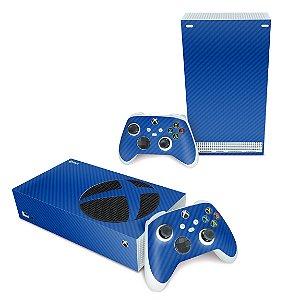 Xbox Series S Skin - Fibra de Carbono Azul