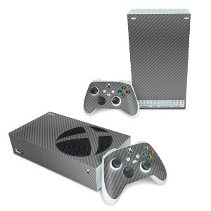 Xbox Series S Skin - Fibra de Carbono Cinza Grafite