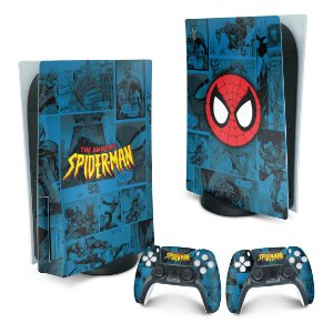 PS5 Skin - Homem-Aranha Spider-Man Comics