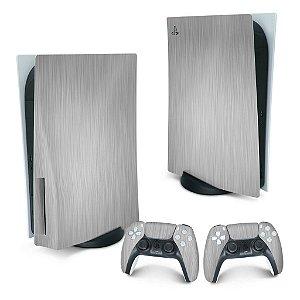 PS5 Skin - Aço Escovado Cinza