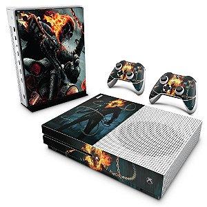 Xbox One Slim Skin - Ghost Rider - Motoqueiro Fantasma #B