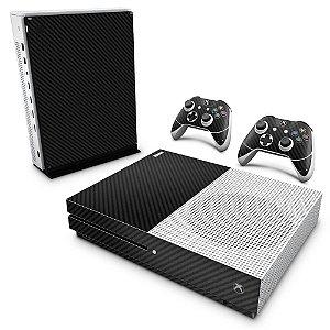 Xbox One Slim Skin - Fibra de Carbono Preto