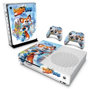 Xbox One Slim Skin - Super Lucky's Tale