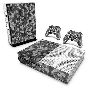 Xbox One Slim Skin - Camuflagem Cinza