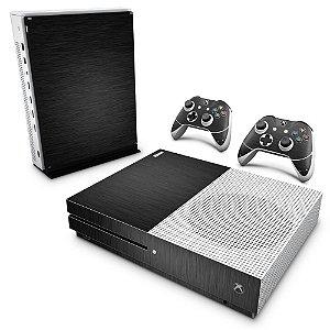 Xbox One Slim Skin - Aço Escovado Preto
