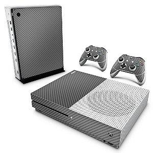 Xbox One Slim Skin - Fibra de Carbono Cinza Grafite