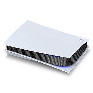 PS5 Central Skin - Fibra de Carbono Preta