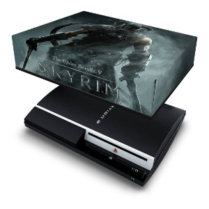 PS3 Fat Capa Anti Poeira - Skyrim