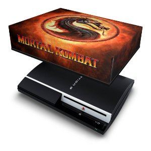 PS3 Fat Capa Anti Poeira - Mortal Kombat