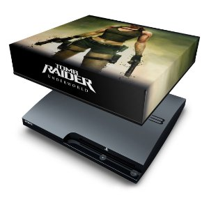 PS3 Slim Capa Anti Poeira - Tomb Raider