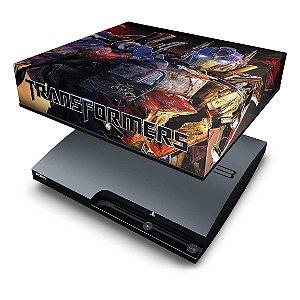 PS3 Slim Capa Anti Poeira - Transformers