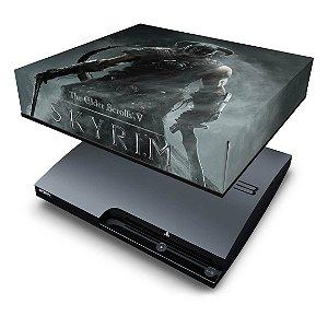 PS3 Slim Capa Anti Poeira - Skyrim