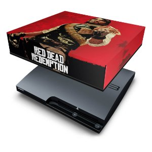 PS3 Slim Capa Anti Poeira - Red Dead Redemption