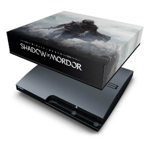 PS3 Slim Capa Anti Poeira - Shadow Of Mordor