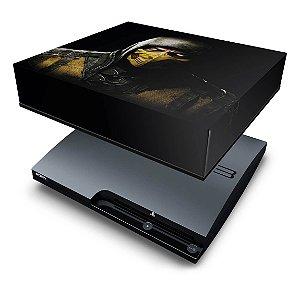 PS3 Slim Capa Anti Poeira - Mortal Kombat X Scorpion