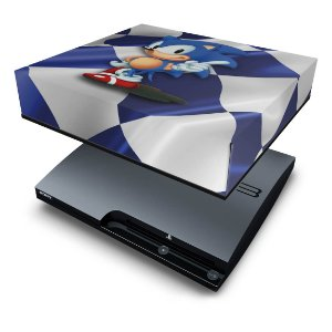 PS3 Slim Capa Anti Poeira - Sonic Hedgehog