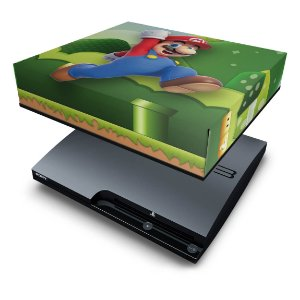 PS3 Slim Capa Anti Poeira - Mario & Luigi