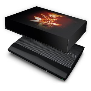 PS3 Super Slim Capa Anti Poeira - Fire Flower
