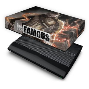 PS3 Super Slim Capa Anti Poeira - Infamous 2