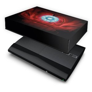 PS3 Super Slim Capa Anti Poeira - Iron Man