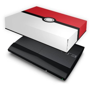 PS3 Super Slim Capa Anti Poeira - Pokemon Pokebola