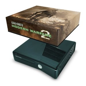 Xbox 360 Slim Capa Anti Poeira - Modern Warfare 2