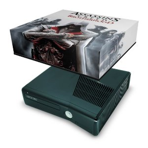 Xbox 360 Slim Capa Anti Poeira - Assassins Creed Brotherwood #B