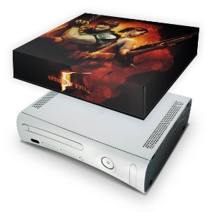 Xbox 360 Fat Capa Anti Poeira - Resident Evil 5