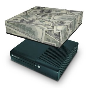 Xbox 360 Super Slim Capa Anti Poeira - Dollar Money Dinheiro
