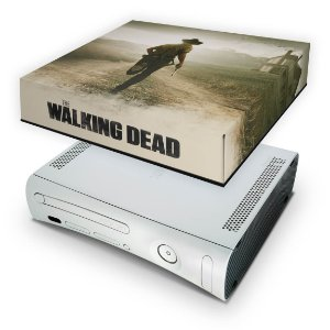 Xbox 360 Fat Capa Anti Poeira - The Walking Dead #b