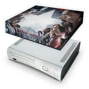 Xbox 360 Fat Capa Anti Poeira - Capitão America B
