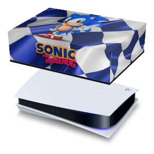 PS5 Capa Anti Poeira - Sonic