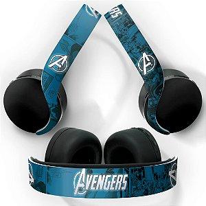 PS5 Skin Headset Pulse 3D - Avengers Vingadores Comics