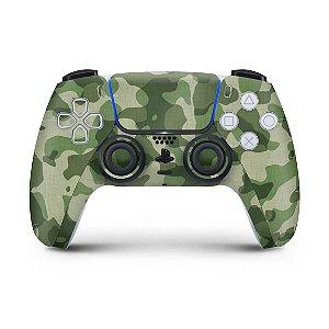 Skin PS5 Controle - Camuflado Verde
