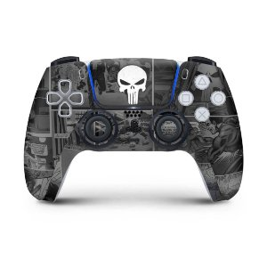 Skin PS5 Controle - The Punisher Justiceiro Comics