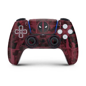 Skin PS5 Controle - Deadpool Comics