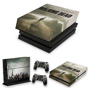 KIT PS4 Fat Skin e Capa Anti Poeira - The Walking Dead