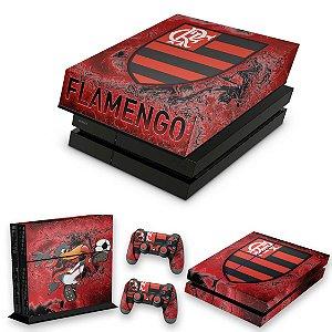KIT PS4 Fat Skin e Capa Anti Poeira - Flamengo