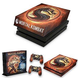 KIT PS4 Fat Skin e Capa Anti Poeira - Mortal Kombat