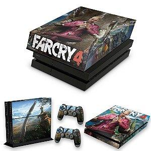 KIT PS4 Fat Skin e Capa Anti Poeira - Far Cry 4