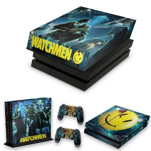 KIT PS4 Fat Skin e Capa Anti Poeira - Watchmen