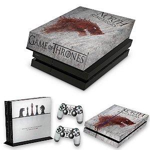 KIT PS4 Fat Skin e Capa Anti Poeira - Game Of Thrones #A