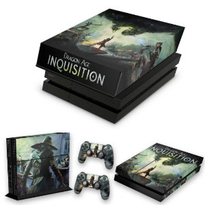 KIT PS4 Fat Skin e Capa Anti Poeira - Dragon Age Inquisition