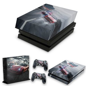 KIT PS4 Fat Skin e Capa Anti Poeira - Need For Speed Rivals