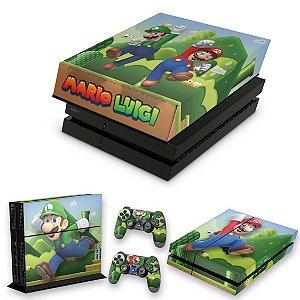KIT PS4 Fat Skin e Capa Anti Poeira - Super Mario Bros