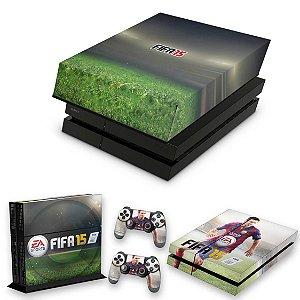 KIT PS4 Fat Skin e Capa Anti Poeira - Fifa 15