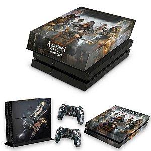 KIT PS4 Fat Skin e Capa Anti Poeira - Assassins Creed Syndicate