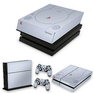 KIT PS4 Fat Skin e Capa Anti Poeira - Sony Playstation 1