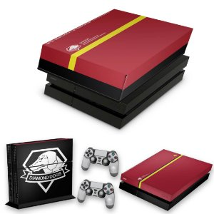 KIT PS4 Fat Skin e Capa Anti Poeira - The Metal Gear Solid 5 Special Edition